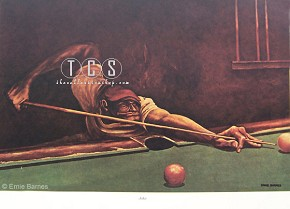 Ernie Barnes Jake-Unsigned Lithograph