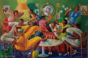 Ernie Barnes Room Ful'a Sistahs-Unsigned Lithograph