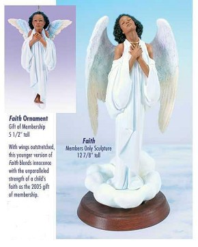 Ebony Visions Faith - Blackshear Circle 2005 Membership Figurine And Kit
