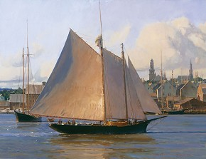 Christopher Blossom Afternoon Arrival Gloucester Limited Edition Canvas