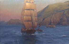 Christopher Blossom Sunrise in the Golden Gate Down Easter Benjamin F. Packard MASTERWORK EDITION ON Canvas