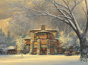 William Phillips Christmas Eve at the Ahwahnee Canvas