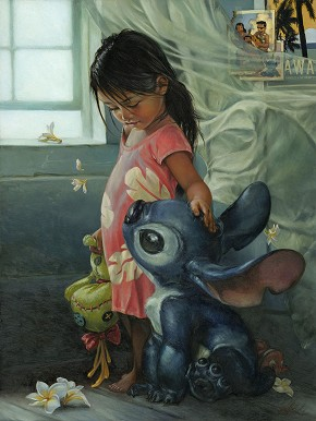 Heather Theurer Ohana Means Family Hand-Embellished Giclee on Canvas