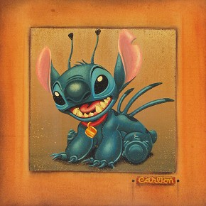 Tim Rogerson Stitch - From Disney Lilo and Stitch Giclee On Canvas