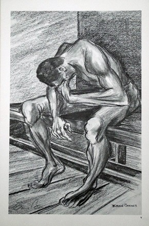 Ernie Barnes To Know Defeat Artist Signed Lithograph