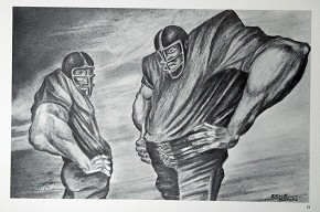 Ernie Barnes Two Linemen