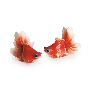 Franz Porcelain Goldfish salt & pepper shakers Fine Porcelain