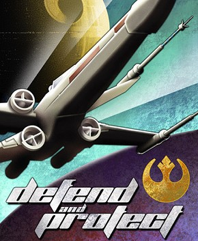Defend and Protect Poster by Mike Kungl