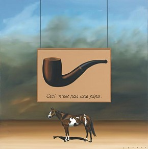 Robert Deyber Paint Horse Magritte hand-crafted stone lithograph