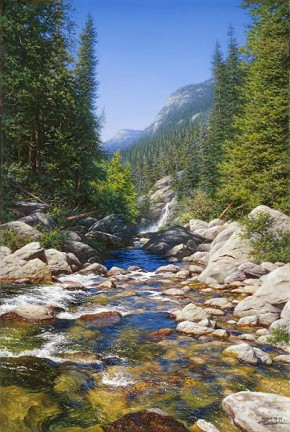 Larry Dyke Abundant Waters By Larry Dyke Giclee On Canvas  Signed & Numbered