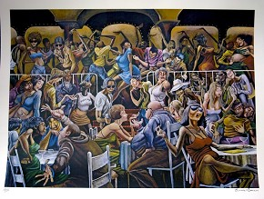 Ernie Barnes Disco Signed And Numbered Limited Edition Lithograph