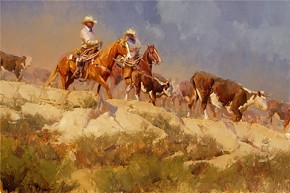Bill Anton Off The Rimrock By Bill Anton Giclee On Canvas  Signed & Numbered