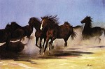 Wild Horses by Gamboa Image is watermarked for copyright protection and is not present on the actual art work.