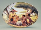 Story Teller Plate by Ebony Visions Image is watermarked for copyright protection and is not present on the actual art work.