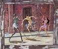 Double Dutch-Signed by Ernie Barnes Image is watermarked for copyright protection and is not present on the actual art work.