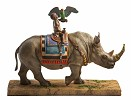 Rhino Rider Artist Proof by Ebony Visions Image is watermarked for copyright protection and is not present on the actual art work.