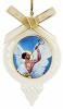 The Angel Gabriel Ornament by Ebony Visions Image is watermarked for copyright protection and is not present on the actual art work.