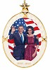 President Obama & The First Lady Ornament by Lenox by Ebony Visions Image is watermarked for copyright protection and is not present on the actual art work.