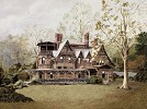 Mark Twain's House by Gamboa Image is watermarked for copyright protection and is not present on the actual art work.