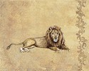 Wild Lion by Gamboa Image is watermarked for copyright protection and is not present on the actual art work.