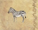 Wild Zebra by Gamboa Image is watermarked for copyright protection and is not present on the actual art work.