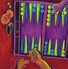 Backgammon by Gamboa Image is watermarked for copyright protection and is not present on the actual art work.