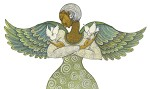Angel Of Peace Giclee  by Charles Bibbs Image is watermarked for copyright protection and is not present on the actual art work.