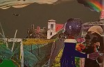 Carolina Memory Color Screenprint On Paper by Romare Bearden Image is watermarked for copyright protection and is not present on the actual art work.