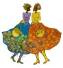 Sunflower Girls Giclee Artist Proof by Charles Bibbs Image is watermarked for copyright protection and is not present on the actual art work.