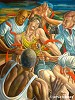 The Competitive Spirit Signed And Numbered Artist Proof by Ernie Barnes Image is watermarked for copyright protection and is not present on the actual art work.