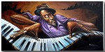 Funk Keys Artist Proof by Frank Morrison Image is watermarked for copyright protection and is not present on the actual art work.
