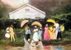 Old Fashion Baptism by Ted Ellis Image is watermarked for copyright protection and is not present on the actual art work.
