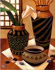 Still Life With African Bowl Giclee by Keith Mallett Image is watermarked for copyright protection and is not present on the actual art work.