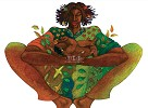 Motherhood- Color Remarque by Charles Bibbs Image is watermarked for copyright protection and is not present on the actual art work.