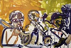 Brass Section Artist Signed by Romare Bearden Image is watermarked for copyright protection and is not present on the actual art work.