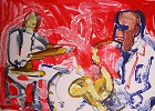 Out Chorus Artist Signed by Romare Bearden Image is watermarked for copyright protection and is not present on the actual art work.