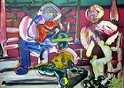 Louisiana Serenade Artist Signed by Romare Bearden Image is watermarked for copyright protection and is not present on the actual art work.