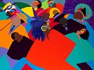 Mardi Gras by Synthia SAINT JAMES Image is watermarked for copyright protection and is not present on the actual art work.