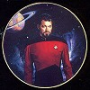 Star Trek Riker - The Next Generation by Thomas Blackshear Image is watermarked for copyright protection and is not present on the actual art work.