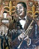 Satchmo Jazz by Ted Ellis Image is watermarked for copyright protection and is not present on the actual art work.