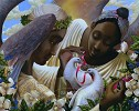 Angels Of Love by John Holyfield Image is watermarked for copyright protection and is not present on the actual art work.