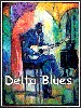 Delta Blues Artist Signed by William Tolliver Image is watermarked for copyright protection and is not present on the actual art work.