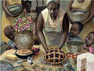Mamas Table by John Holyfield Image is watermarked for copyright protection and is not present on the actual art work.
