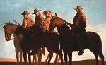 Outlaws Canvas Transfer by Kadir Nelson Image is watermarked for copyright protection and is not present on the actual art work.
