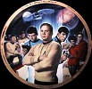 Star Trek Collector Plate 25th Anniversary by Thomas Blackshear Image is watermarked for copyright protection and is not present on the actual art work.
