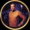 Star Trek Captain Kirk 25th Anniversary Plate by Thomas Blackshear Image is watermarked for copyright protection and is not present on the actual art work.