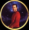 Star Trek Scotty 25th Anniversary Plate by Thomas Blackshear Image is watermarked for copyright protection and is not present on the actual art work.
