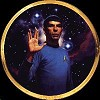 Star Trek Mr. Spock 25th Anniversary Plate by Thomas Blackshear Image is watermarked for copyright protection and is not present on the actual art work.