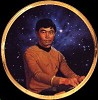 Star Trek Hikaru Sulu 25th Anniversary Plate by Thomas Blackshear Image is watermarked for copyright protection and is not present on the actual art work.