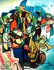 Transcendent Of The Blues Signed By Artist Serigraph by William Tolliver Image is watermarked for copyright protection and is not present on the actual art work.